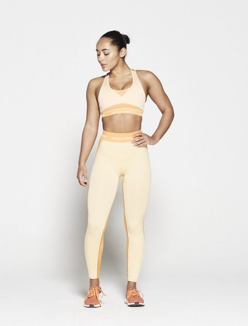 Fitness Top Dames Oranje Seamless - Pursue Fitness-1