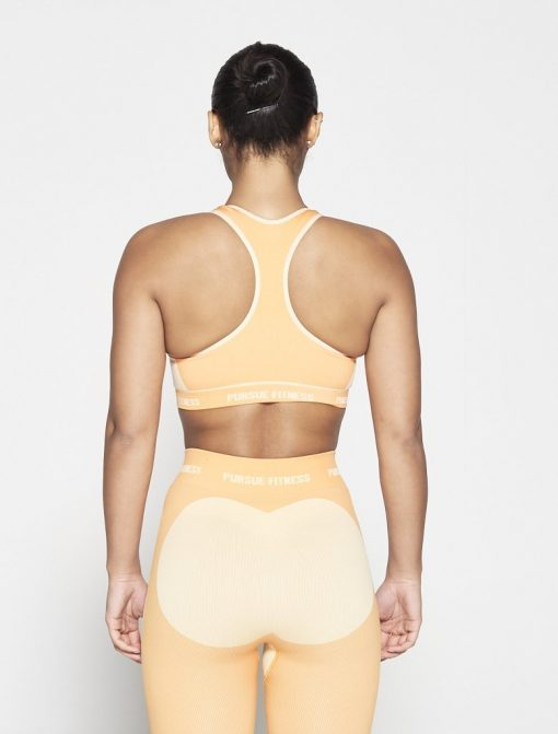 Fitness Top Dames Oranje Seamless - Pursue Fitness-3