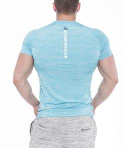 Bodybuilding T-Shirt Compressie Lichtblauw - Fitness Authority-2