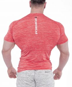 Bodybuilding T-Shirt Compressie Rood - Fitness Authority-2