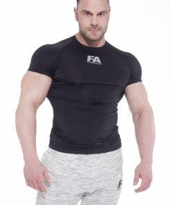 Bodybuilding T-Shirt Compressie Zwart - Fitness Authority-1