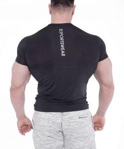 Bodybuilding T-Shirt Compressie Zwart - Fitness Authority-2