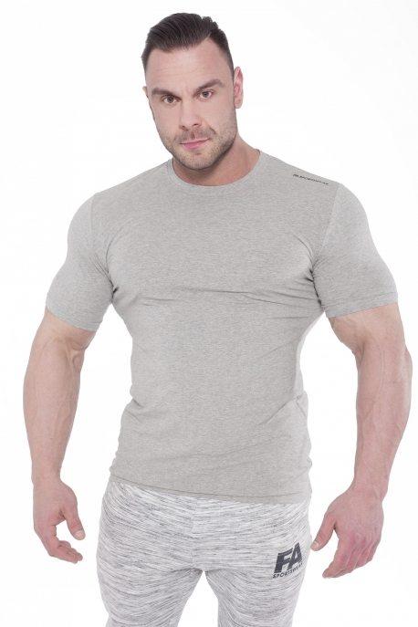 Bodybuilding T-Shirt Elegance Lichtgrijs - Fitness Authority-1