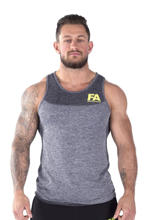 Bodybuilding Tanktop Basic Donkergrijs - Fitness Authority-1