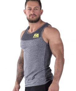 Bodybuilding Tanktop Basic Donkergrijs - Fitness Authority-2