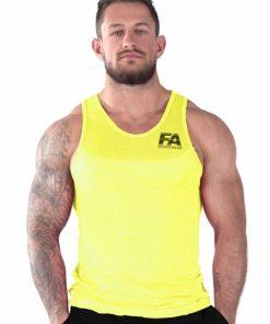 Bodybuilding Tanktop Basic Geel - Fitness Authority-1