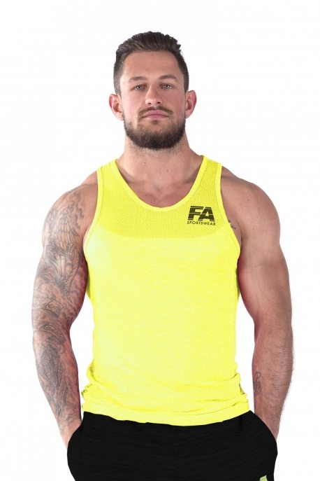Bodybuilding Tanktop Basic Geel - Fitness Authority-1
