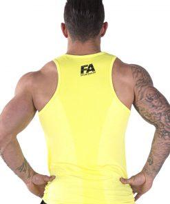 Bodybuilding Tanktop Basic Geel - Fitness Authority-2