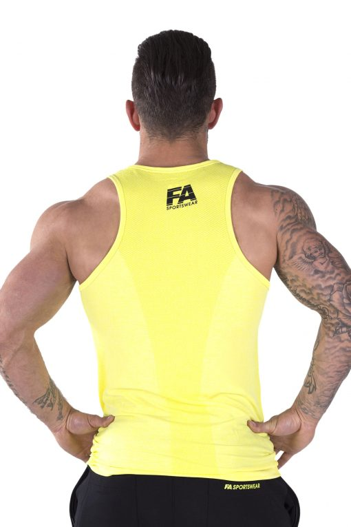 Bodybuilding Tanktop Basic Geel - Fitness Authority-2