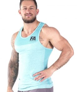 Bodybuilding Tanktop Basic Lichtblauw - Fitness Authority-2