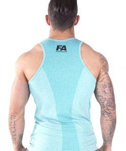 Bodybuilding Tanktop Basic Lichtblauw - Fitness Authority-3