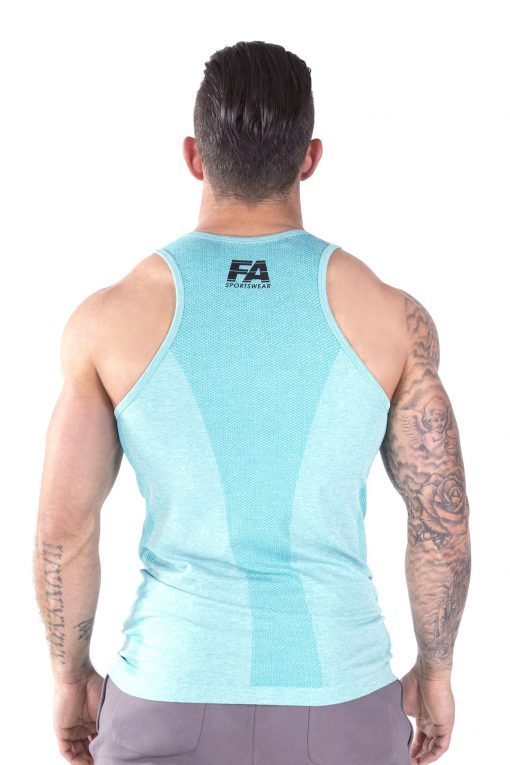 Bodybuilding Tanktop Basic Lichtblauw - Fitness Authority-3