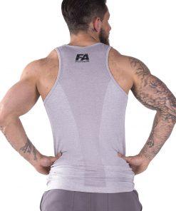 Bodybuilding Tanktop Basic Lichtgrijs - Fitness Authority-3