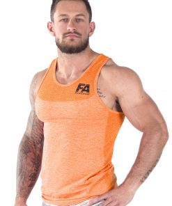 Bodybuilding Tanktop Basic Oranje - Fitness Authority-2