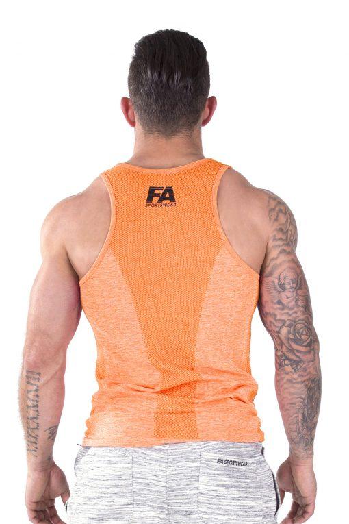 Bodybuilding Tanktop Basic Oranje - Fitness Authority-3