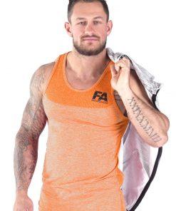 Bodybuilding Tanktop Basic Oranje - Fitness Authority-4