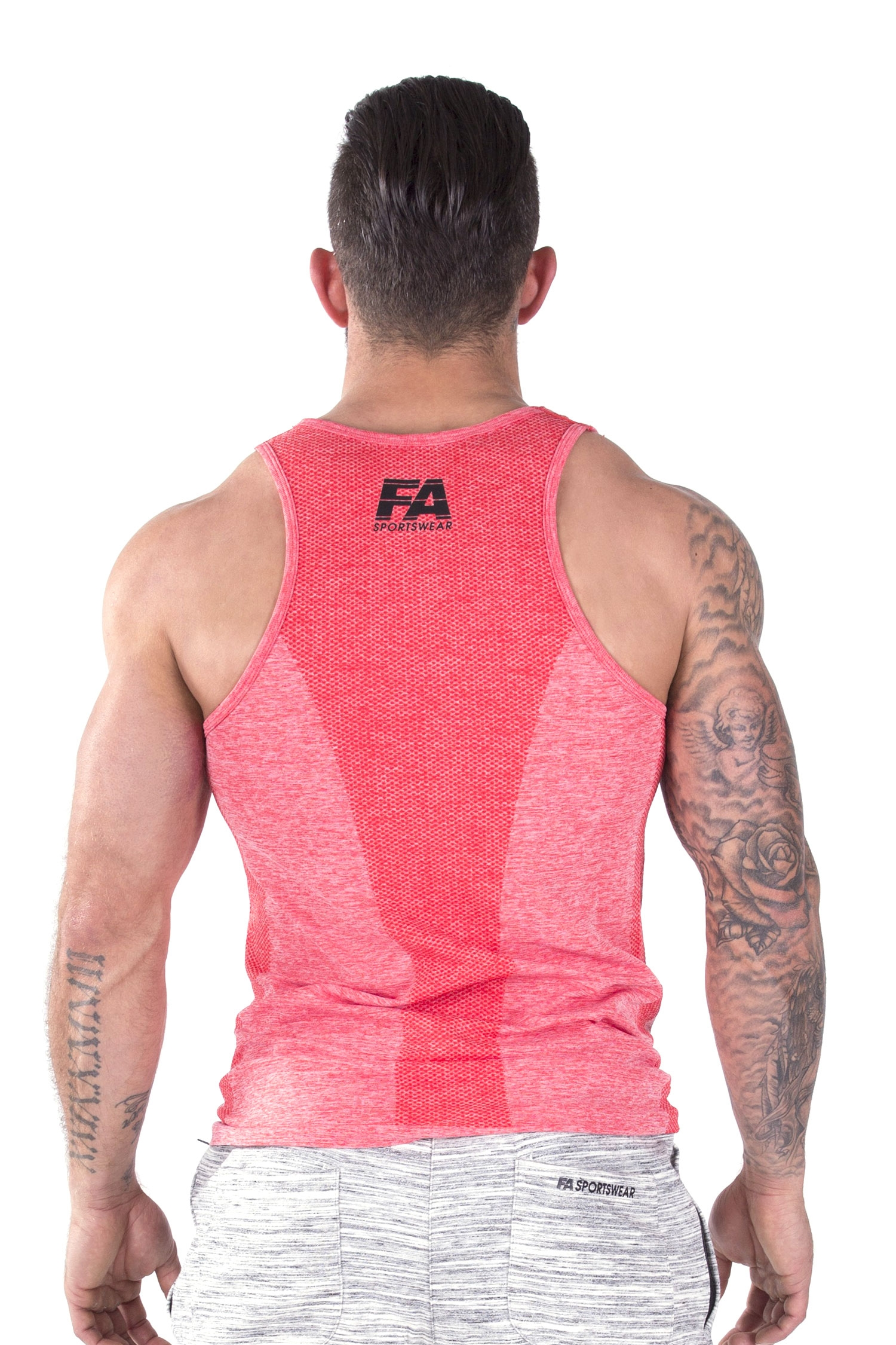 Bodybuilding tanktop basic rood fitness authority for Basic fit inschrijven
