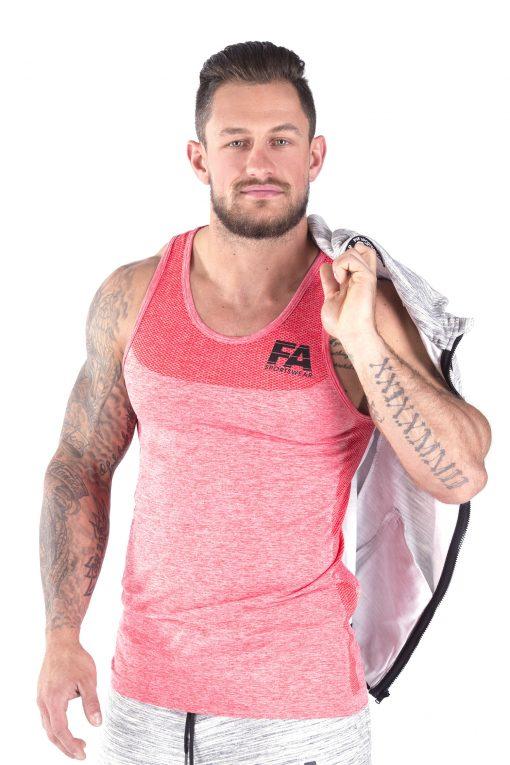 Bodybuilding Tanktop Basic Rood - Fitness Authority-4