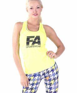 Sport Tanktop Dames Basic Geel - Fitness Authority-1