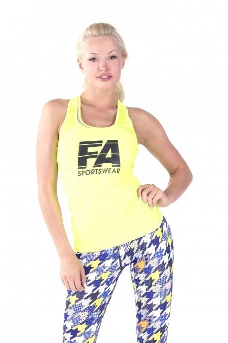 Sport Tanktop Dames Basic Geel - Fitness Authority-1