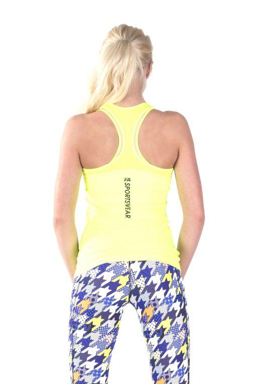 Sport Tanktop Dames Basic Geel - Fitness Authority-2