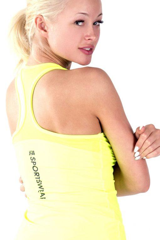 Sport Tanktop Dames Basic Geel - Fitness Authority-3