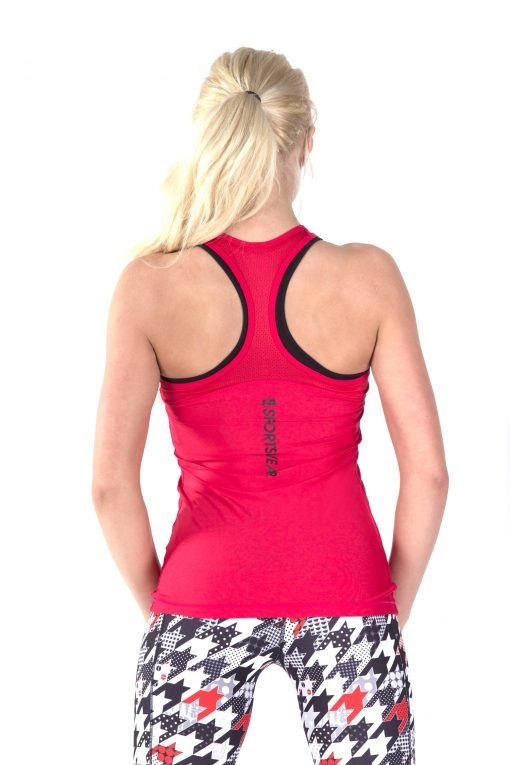 Sport Tanktop Dames Basic Rood - Fitness Authority-1