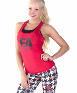 Sport Tanktop Dames Basic Rood - Fitness Authority-2