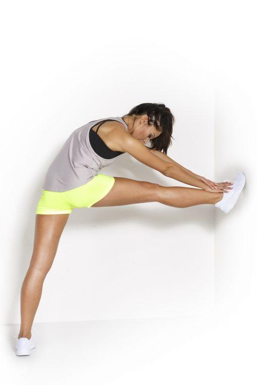 Sport Tanktop Dames Loose Grijs - Fitness Authority-3