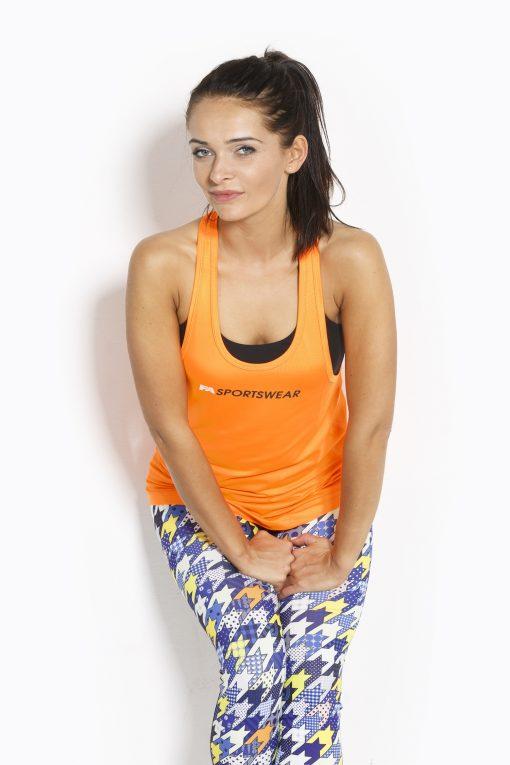 Sport Tanktop Dames Loose Oranje - Fitness Authority-2