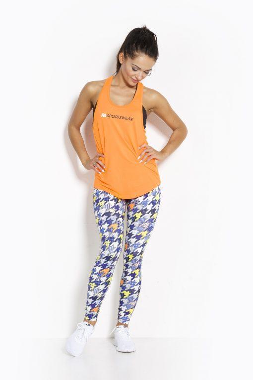 Sport Tanktop Dames Loose Oranje - Fitness Authority-3
