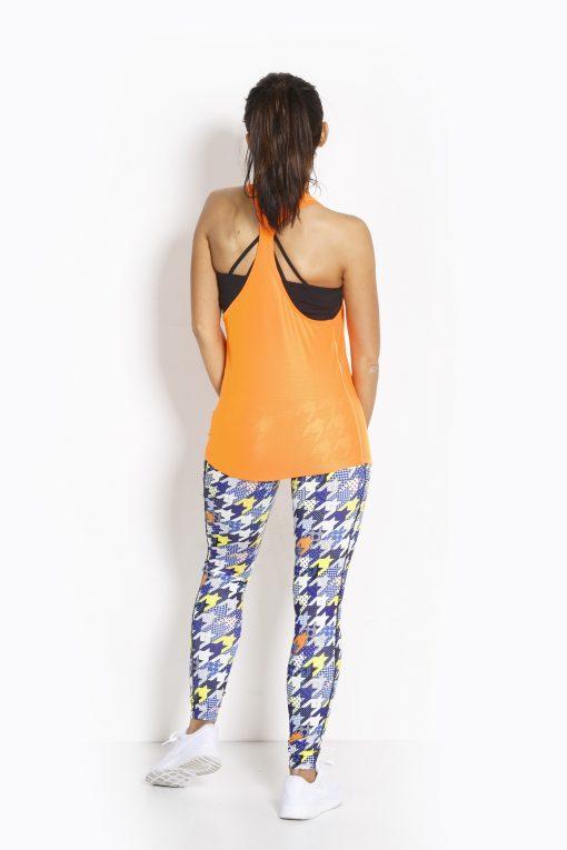 Sport Tanktop Dames Loose Oranje - Fitness Authority-4