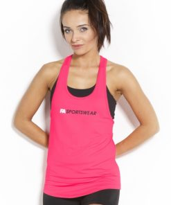 Sport Tanktop Dames Loose Roze - Fitness Authority-1