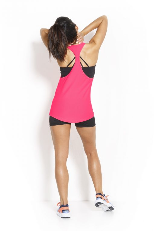 Sport Tanktop Dames Loose Roze - Fitness Authority-2