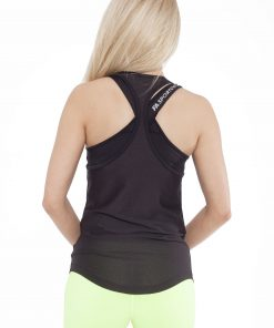 Sport Tanktop Dames Loose Zwart - Fitness Authority-2