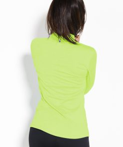 Sportlongsleeve Dames Geel Groen - Fitness Authority-2