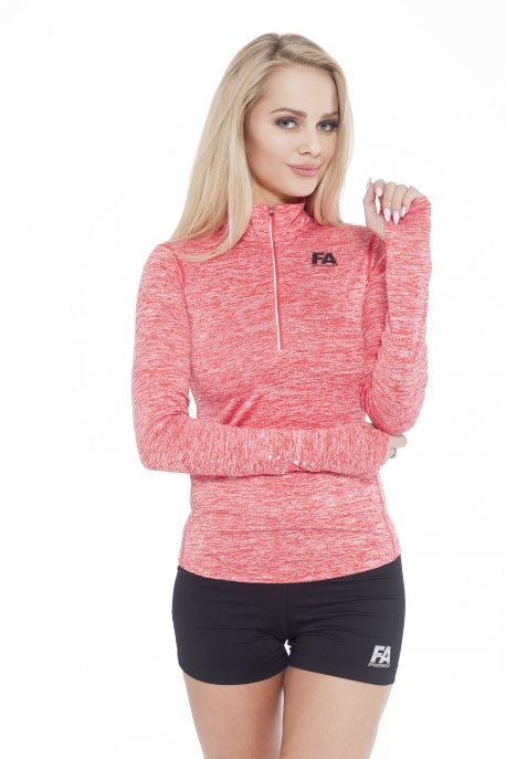 Sportlongsleeve Dames Rood - Fitness Authority-1