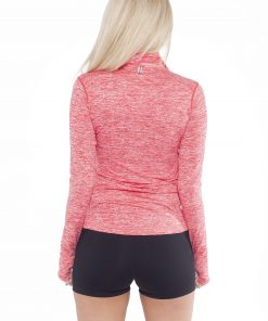 Sportlongsleeve Dames Rood - Fitness Authority-2