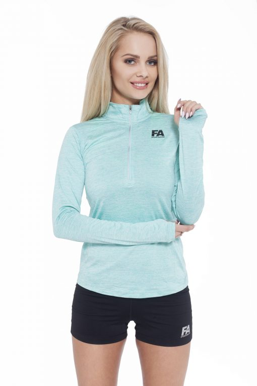 Sportlongsleeve Dames Turquoise - Fitness Authority-1