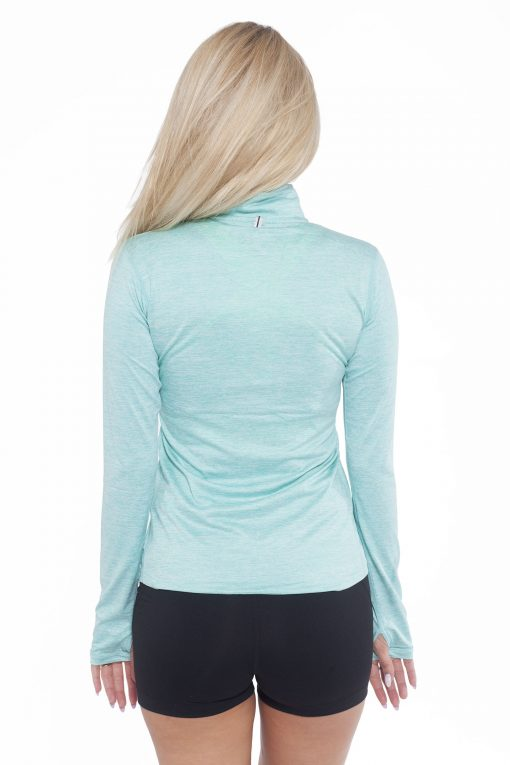 Sportlongsleeve Dames Turquoise - Fitness Authority-2