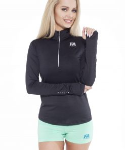 Sportlongsleeve Dames Zwart - Fitness Authority-1