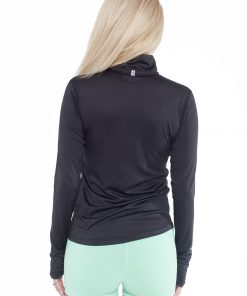 Sportlongsleeve Dames Zwart - Fitness Authority-2