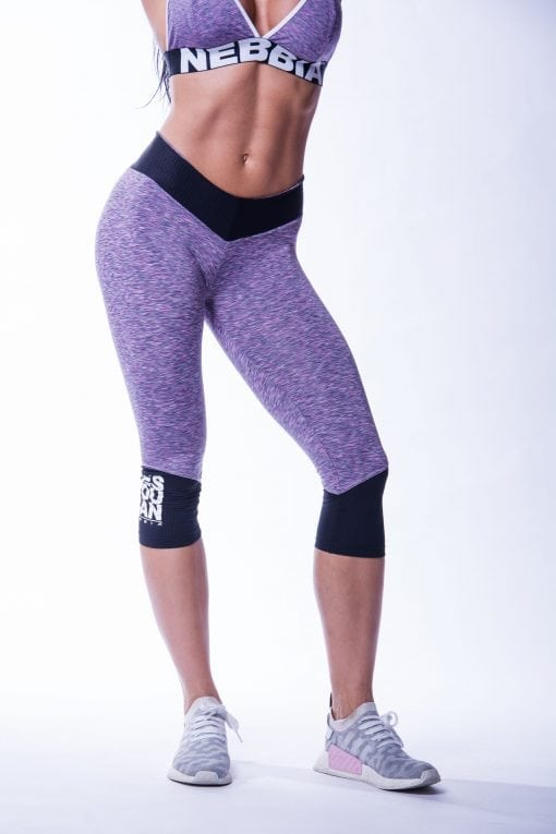 34 High Waist Sportlegging Lila Nebbia 607 1
