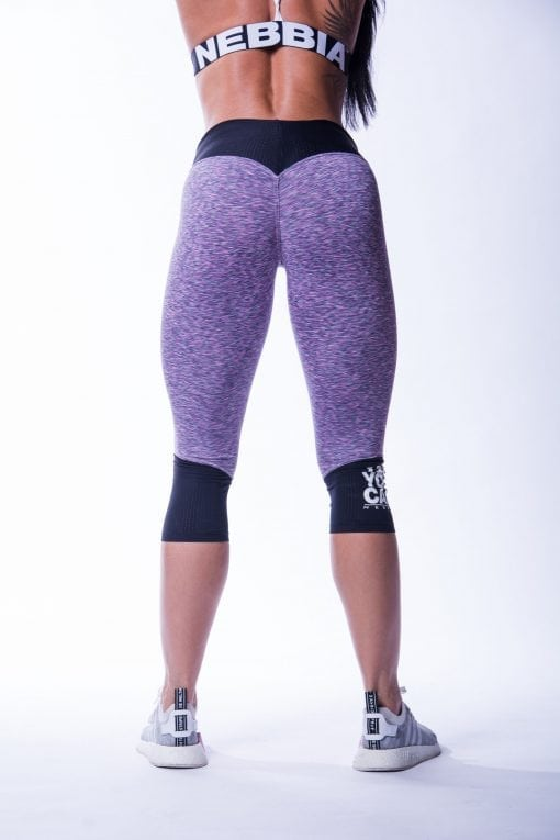34 High Waist Sportlegging Lila Nebbia 607 2