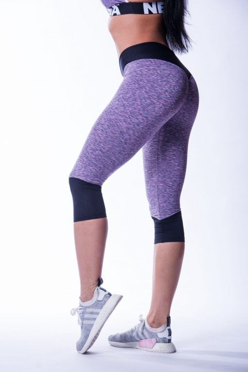34 High Waist Sportlegging Lila Nebbia 607 4