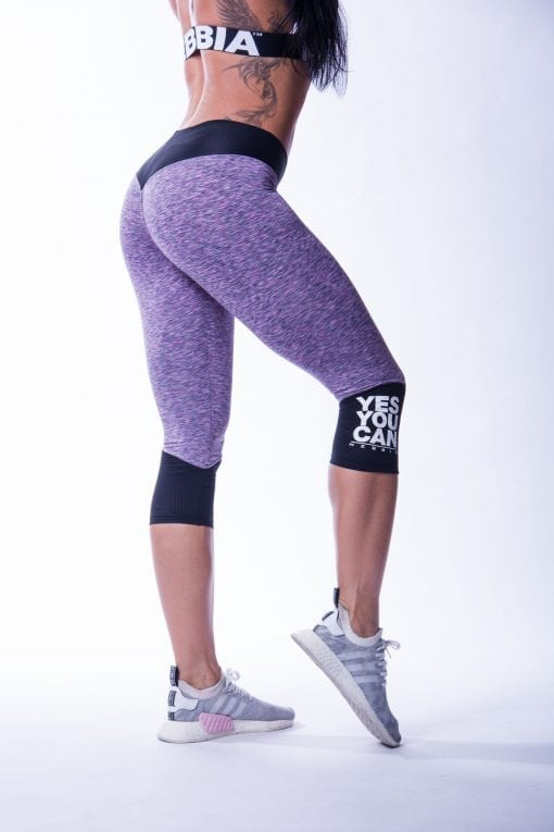 34 High Waist Sportlegging Lila Nebbia 607 5