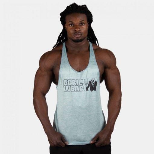Bodybuilding Tanktop Mannen Lichtgroen - Gorilla Wear Austin-1