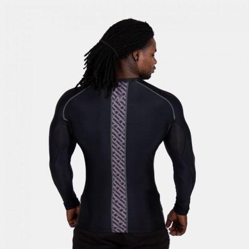 Compressie Longsleeve Zwart Grijs - Gorilla Wear Hayden-2