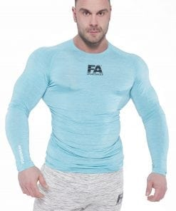 Fitness Longsleeve Heren Blauw - Fitness Authority-1