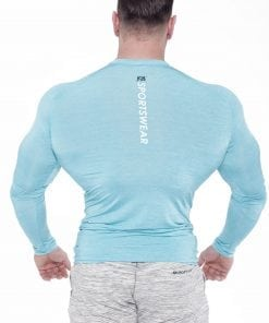 Fitness Longsleeve Heren Blauw - Fitness Authority-2